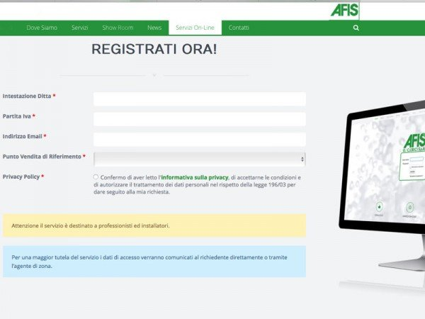Sito Web Afis Clerici