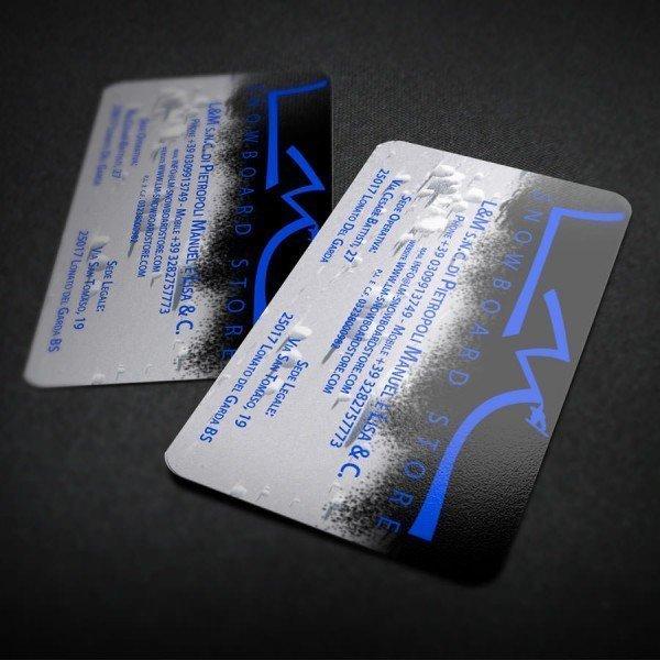 Biglietti da visita PVC